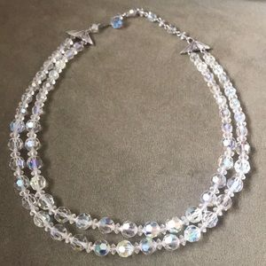 Vintage aurora crystal necklace